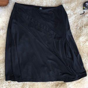 XL black pull on MIDI Skirt